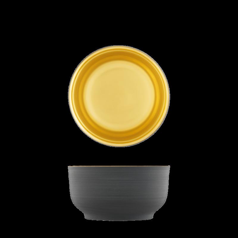 Schale anthrazit, gold, doppelwandig