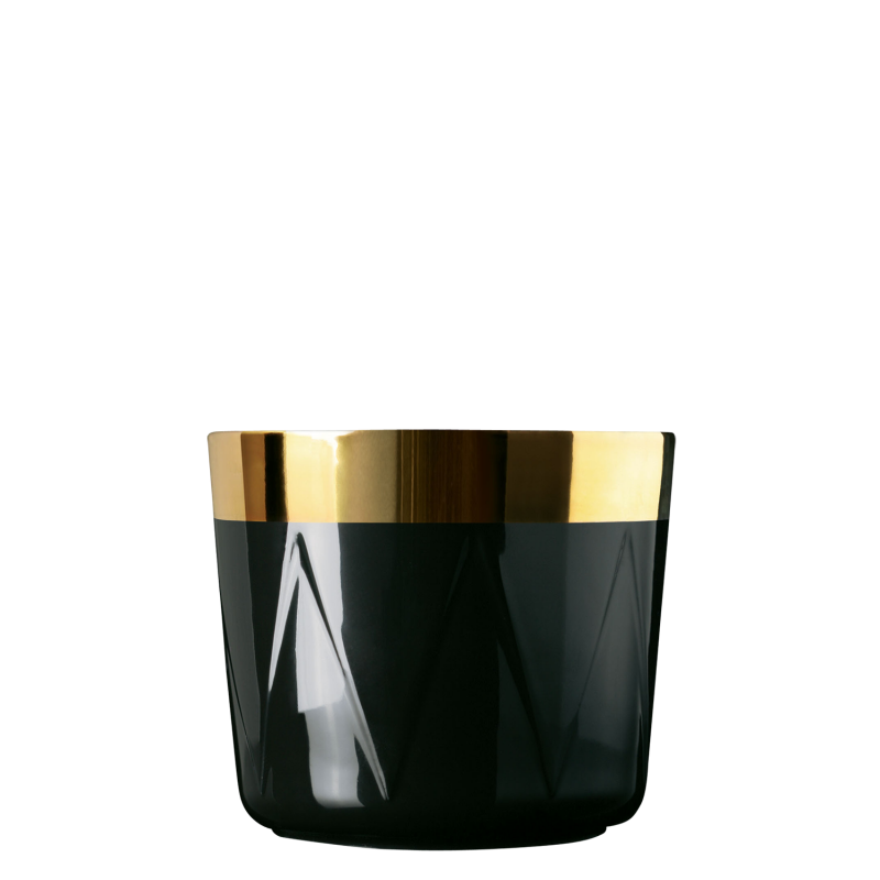 Champagne goblet, black, drum-pattern relief