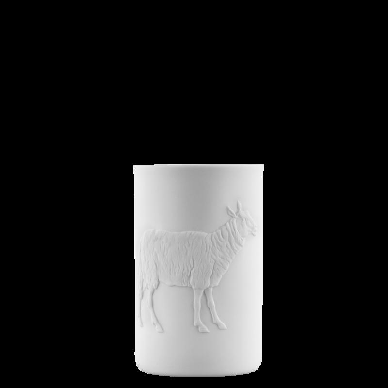 Becher doppelwandig (Relief Schaf)
