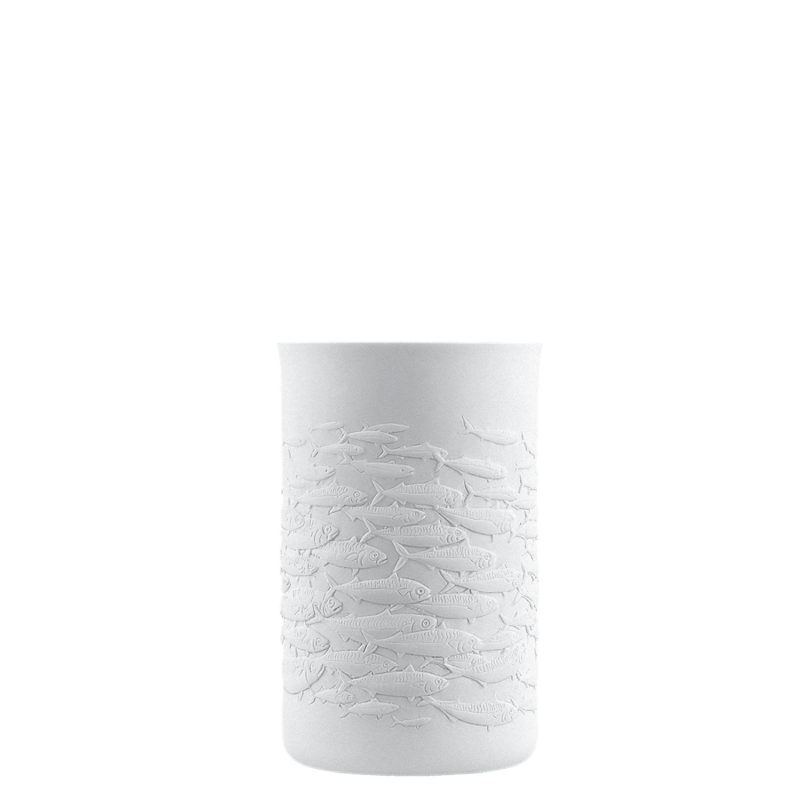 Mug double-walled (relief shool of fish)