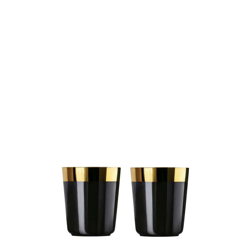 2 Digestifbecher Noir, Plain im Set, glatt