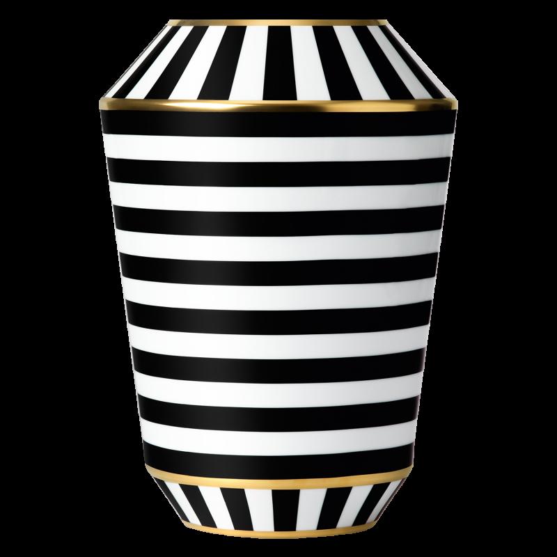 Vase LUNA, black/gold