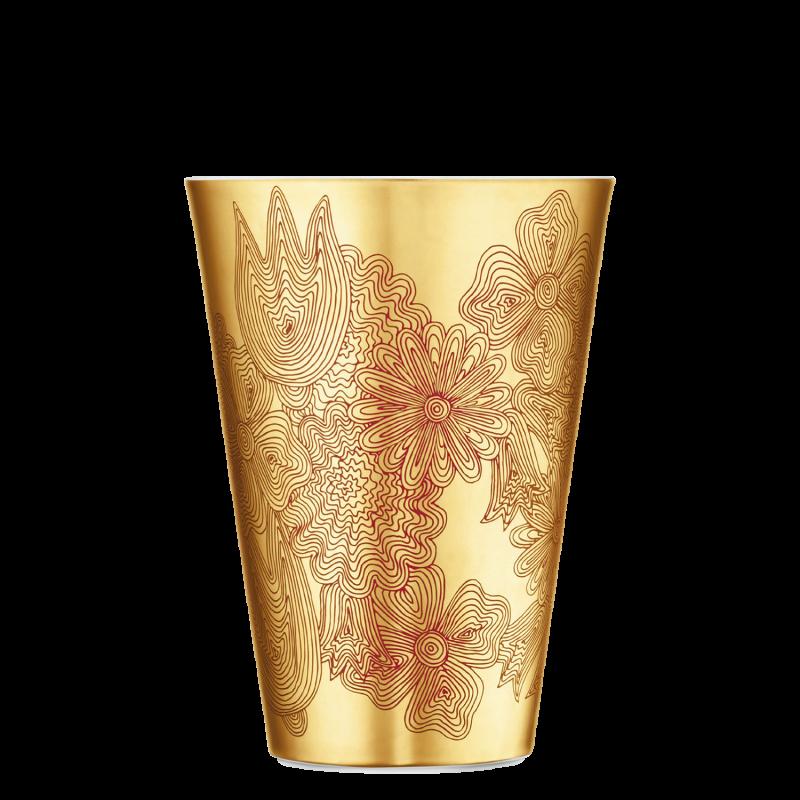 Vase LES FLEURS SUR OR