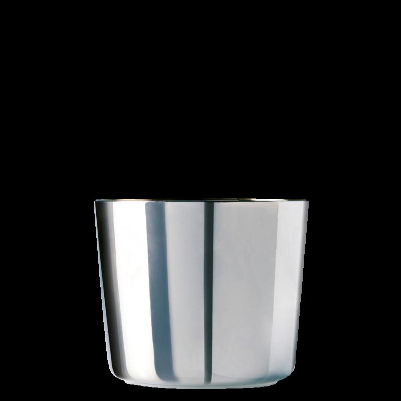 Champagne goblet, platinum, smooth