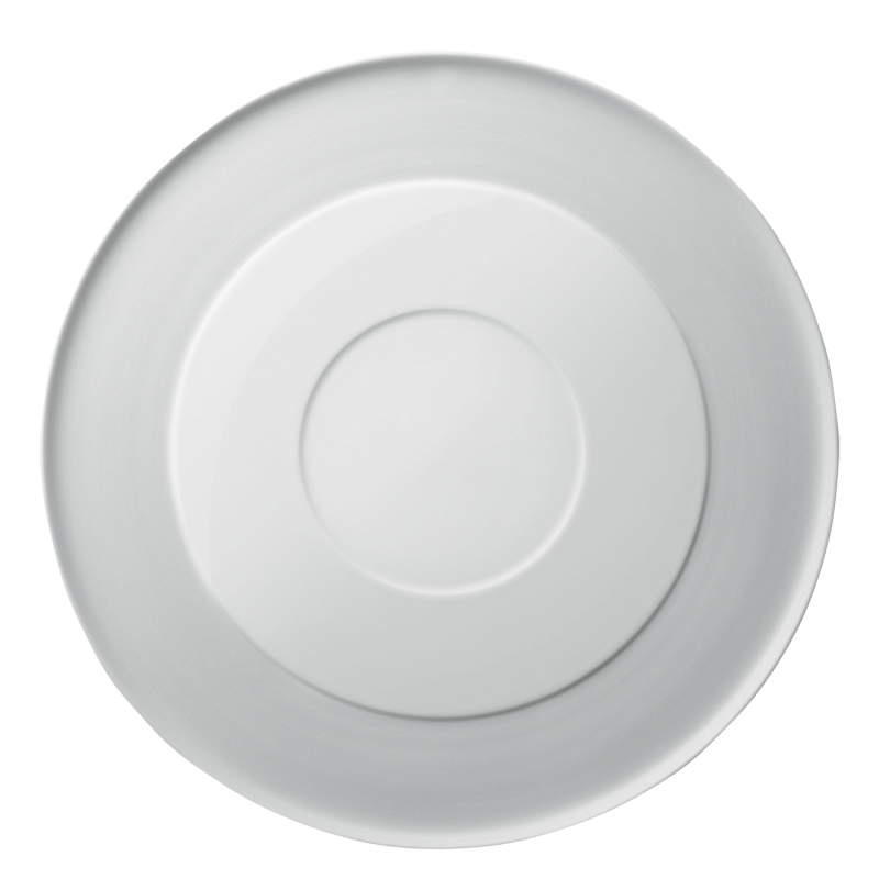Plate flat with raised center rim