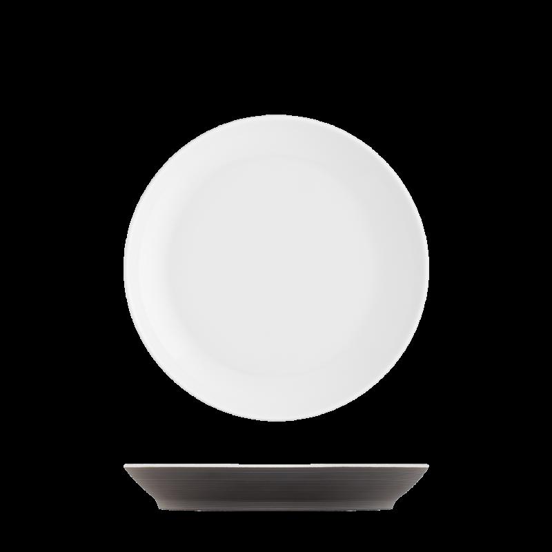 Breakfast plate dark brown