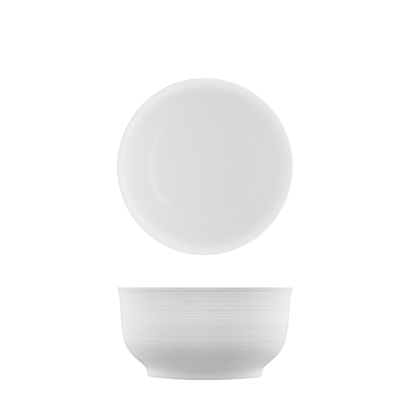 Bowl white, double-walled