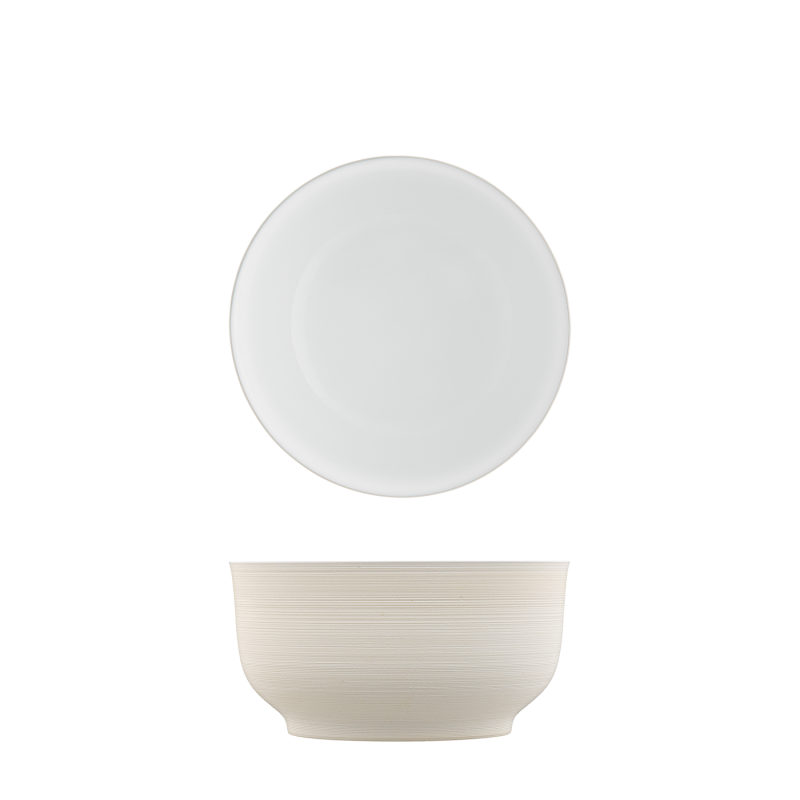 Bowl light brown, double-walled
