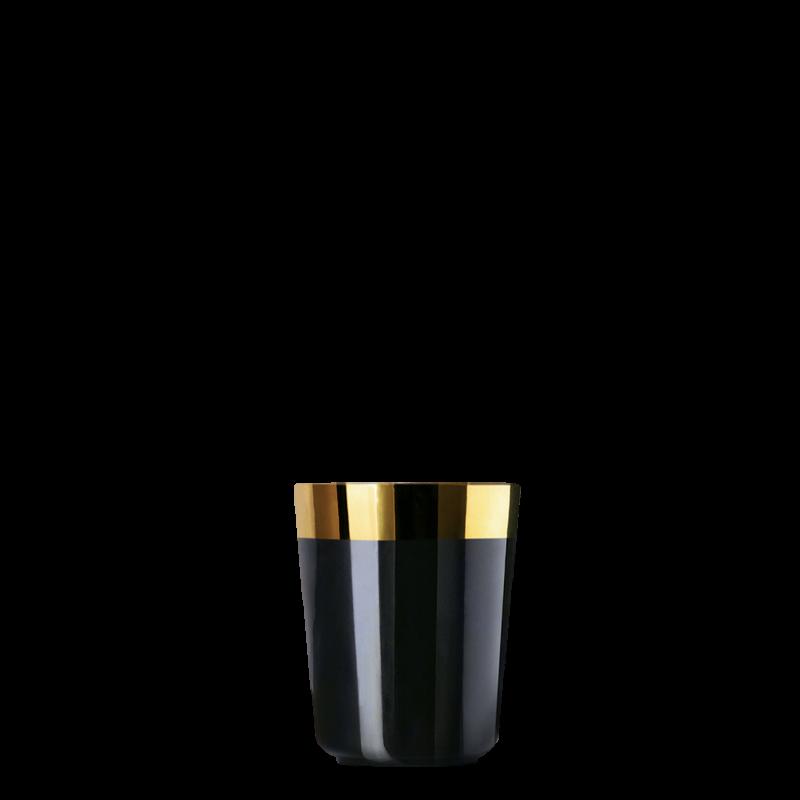 Vodka cup black, smooth