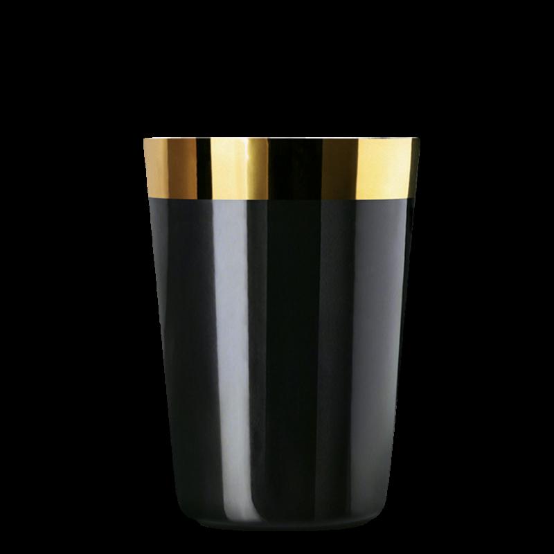 Water beaker black, smooth