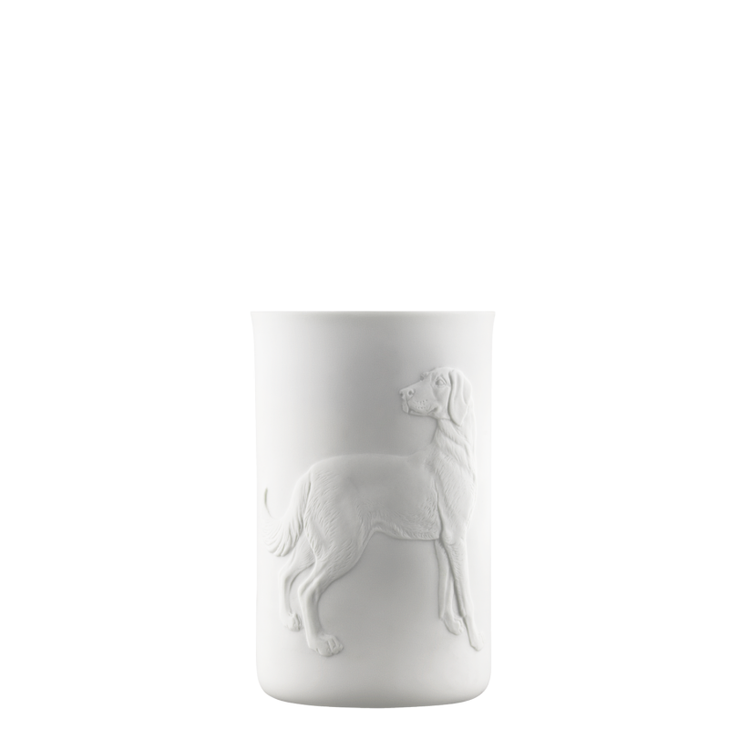 Mug double-walled (relief dog)