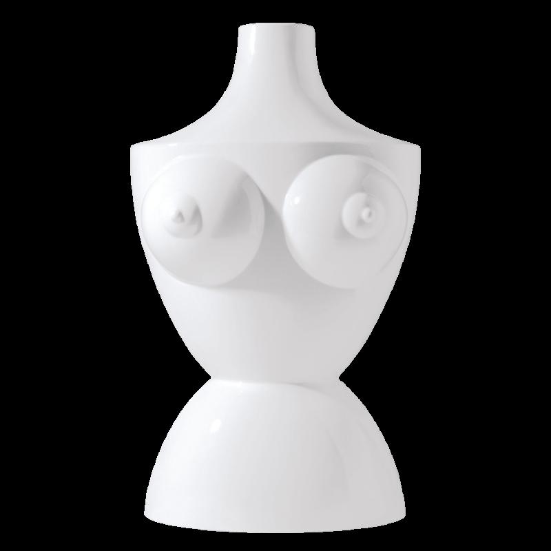 Vase THE BODY, weiß