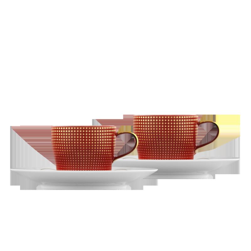 CLAIR DE LUNE Espressotassen Geschenk-Set, Farbe rouge