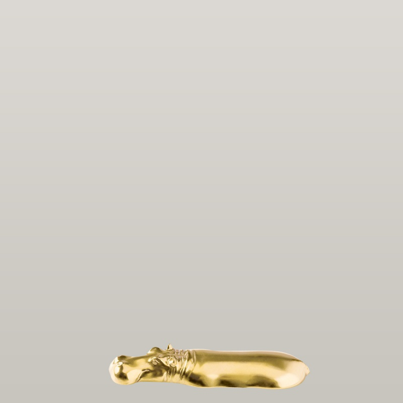 Messerbank Hippo, gold