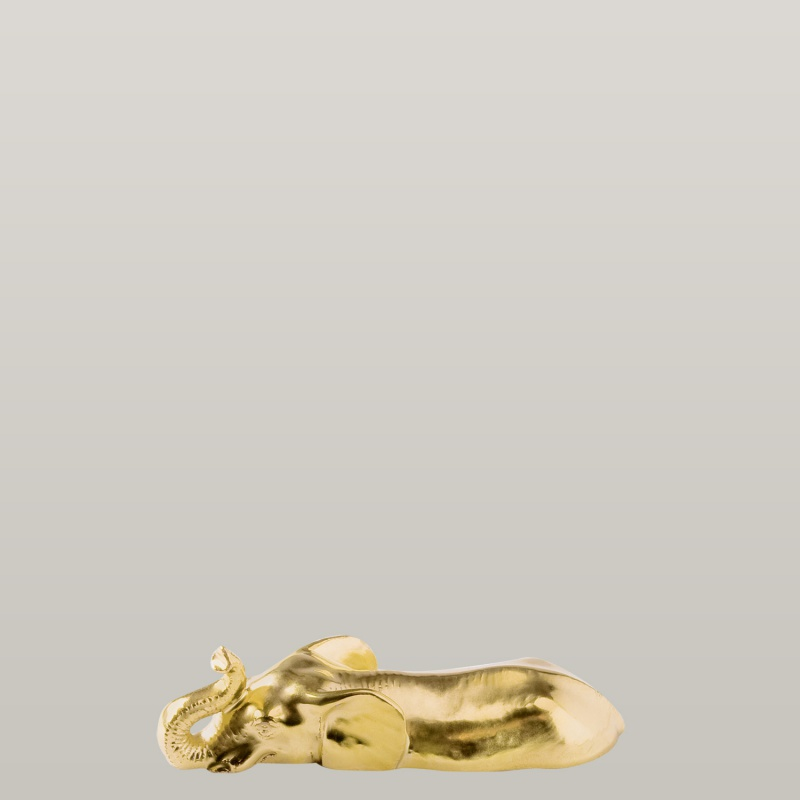 Knife rest elephant, gold