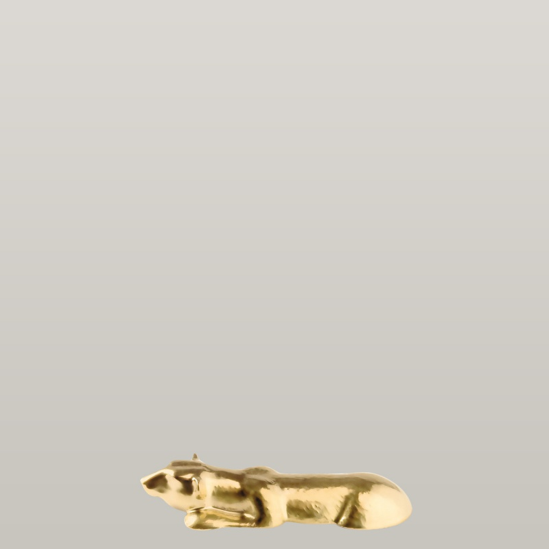 Knife rest polar bear, gold