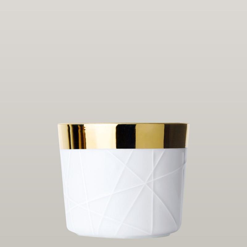 Champagne goblet, white, rode embossed