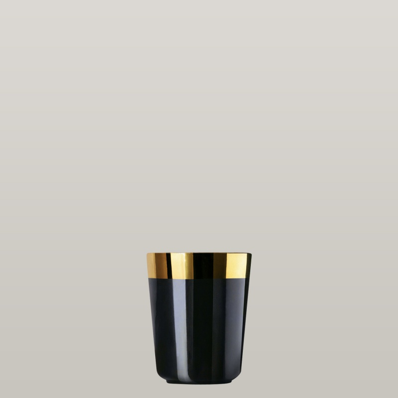 Vodka cup black, smooth