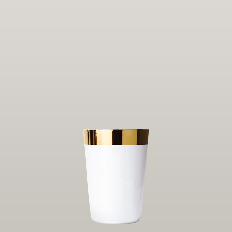 Water beaker white, smooth