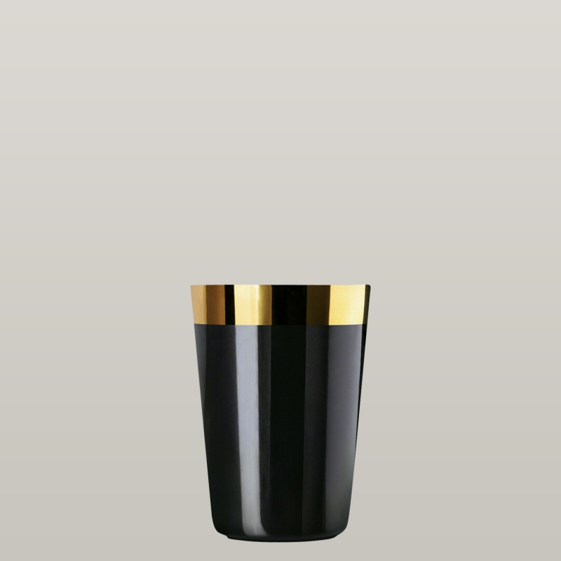 Water beaker black, smooth