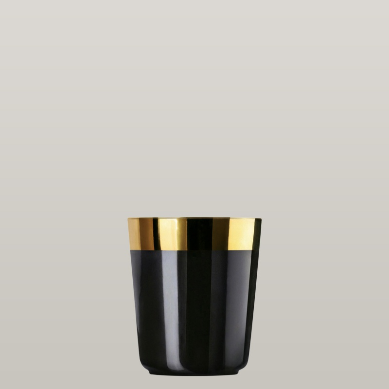 2 Digestif cups black, smooth