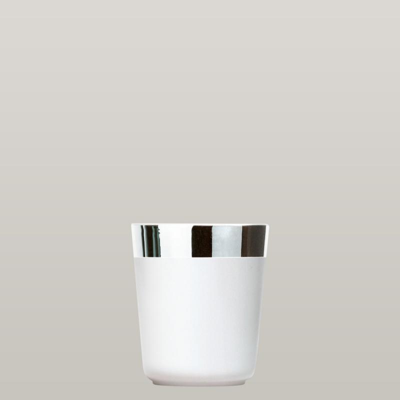 2 Digestifbecher White Platinum im Set, Plain, glatt