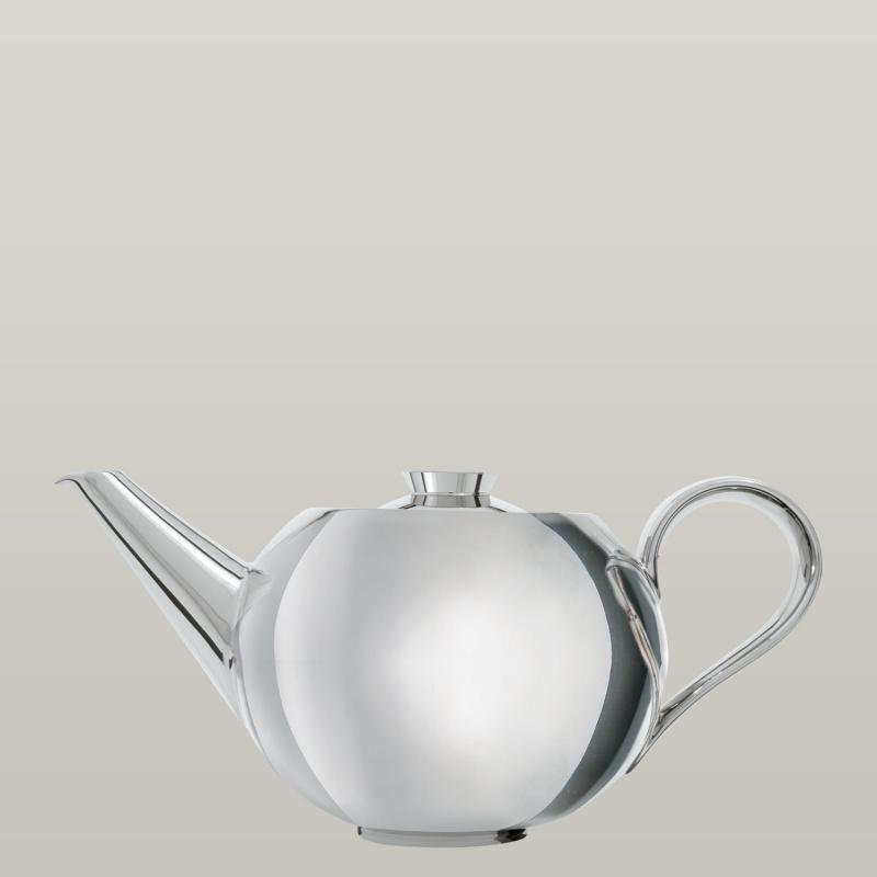 Teapot platinum with tea strainer