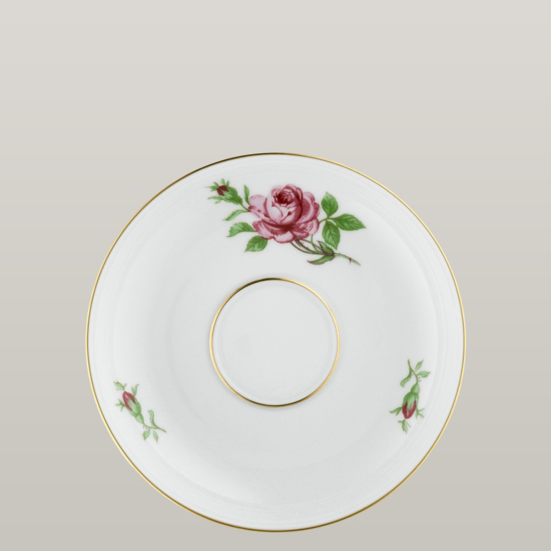 Coffee saucer with insert