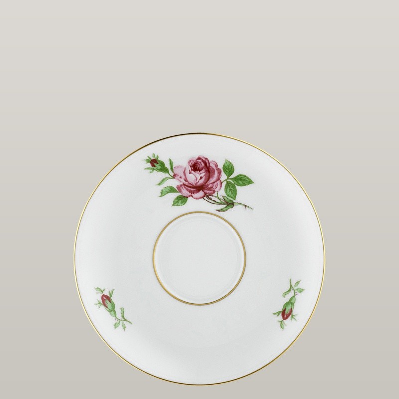 Tea saucer with insert