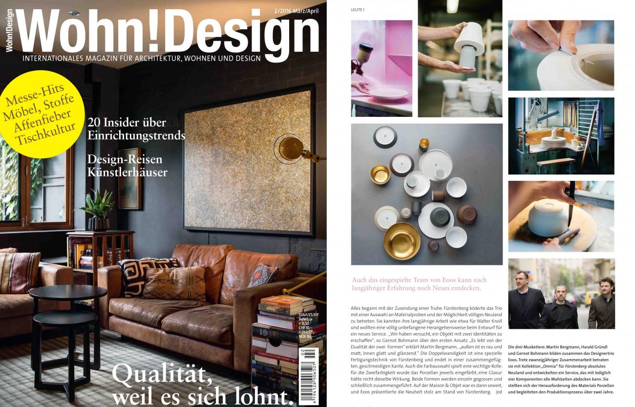 Veröffentlichung OMNIA in Wohn!Design
