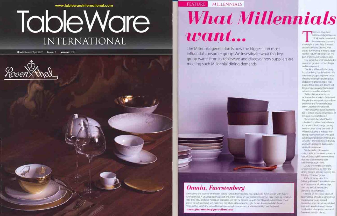 Veröffentlichung OMNIA Tableware International