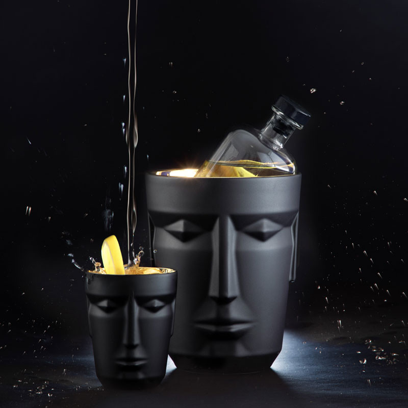 Icebucket and mug in black