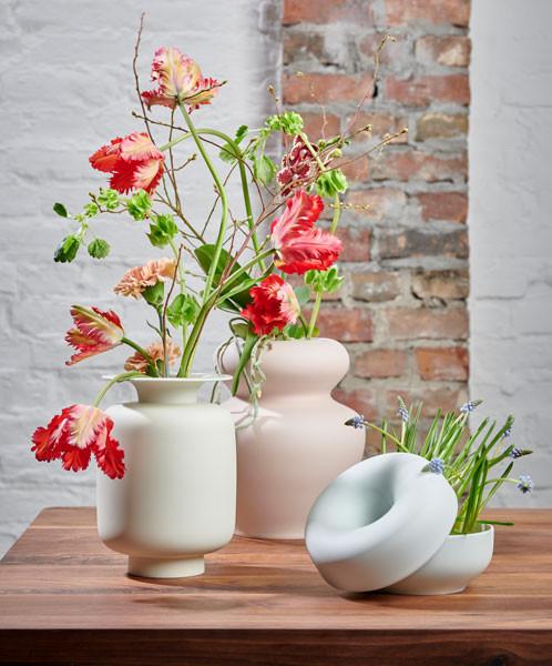 Fürstenberg Fluen Vase mit Blumen
