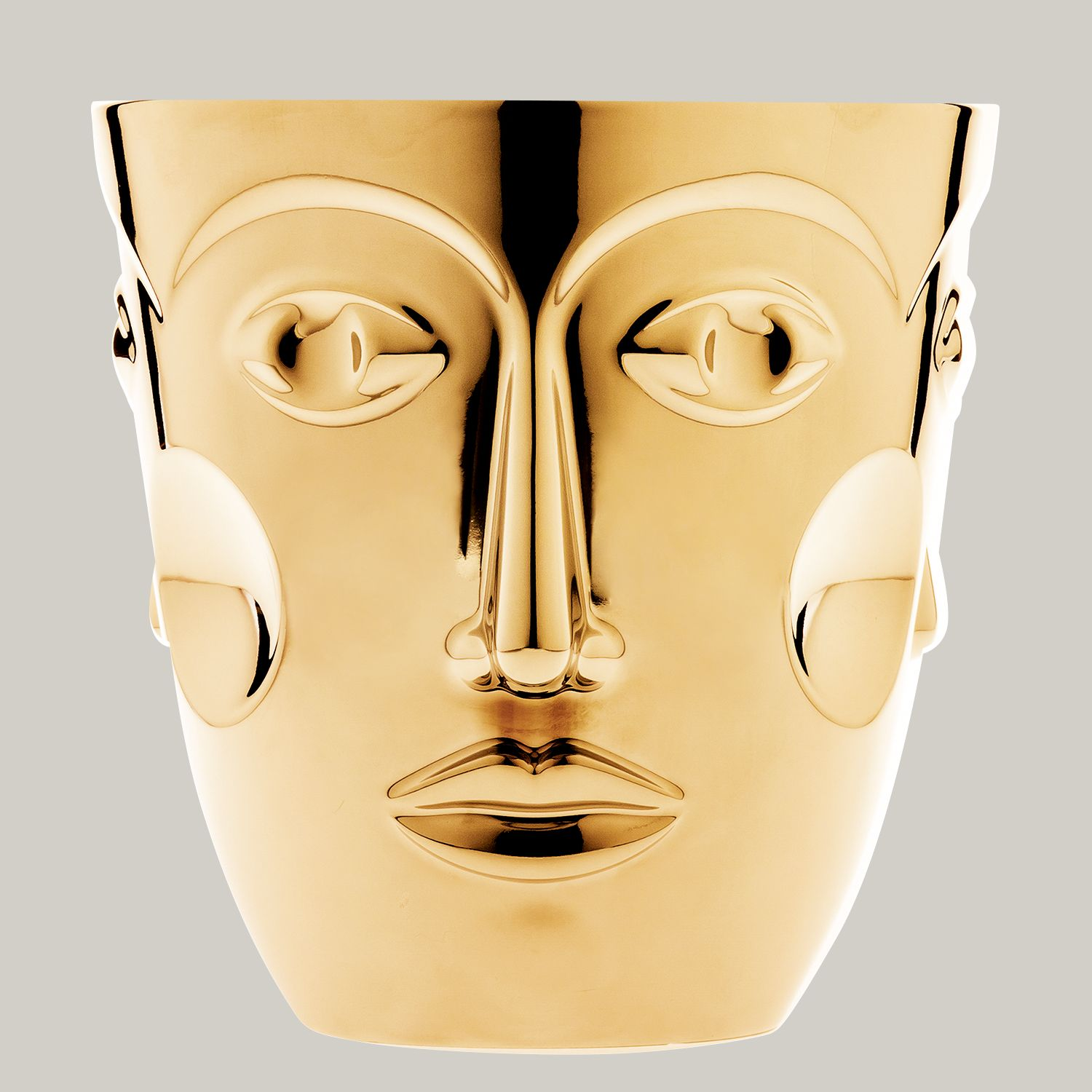 Sp. wine cooler FACES, gold