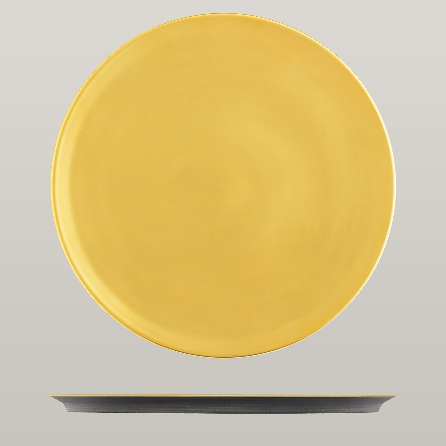 Dinner plate, anthracite, gold