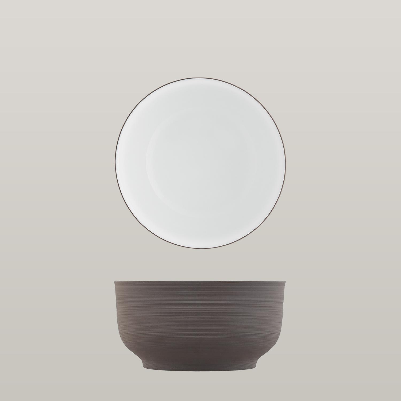 Bowl dark brown, double-walled