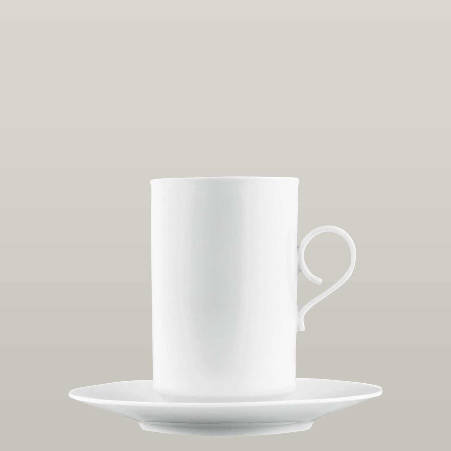 Hot chocolate cup, saucer