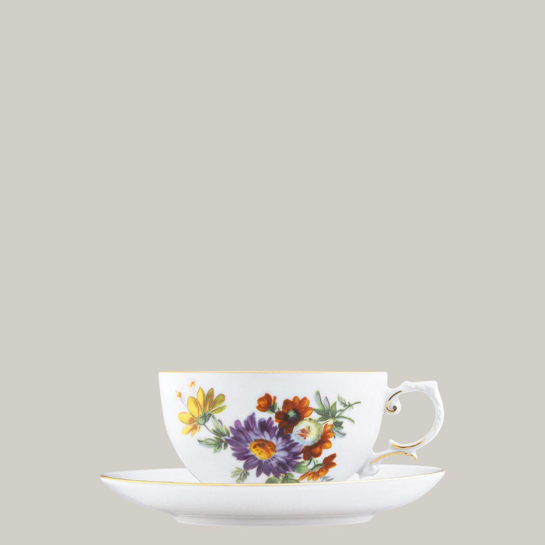 Teetasse 2-tlg. (Untertasse mit Spiegel)