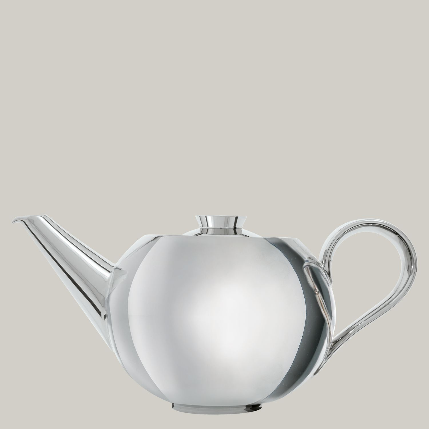 Teapot platinum with tea strainer