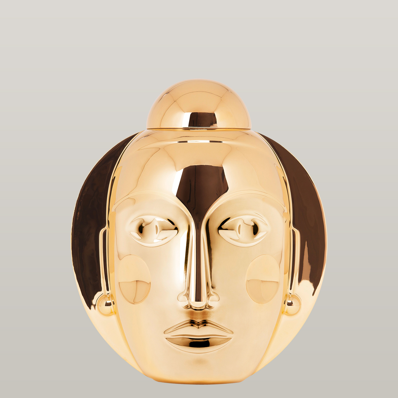 Lidded vase SECRET, gold