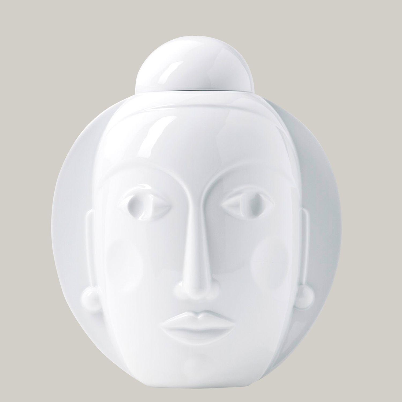 Lidded vase SECRET, white