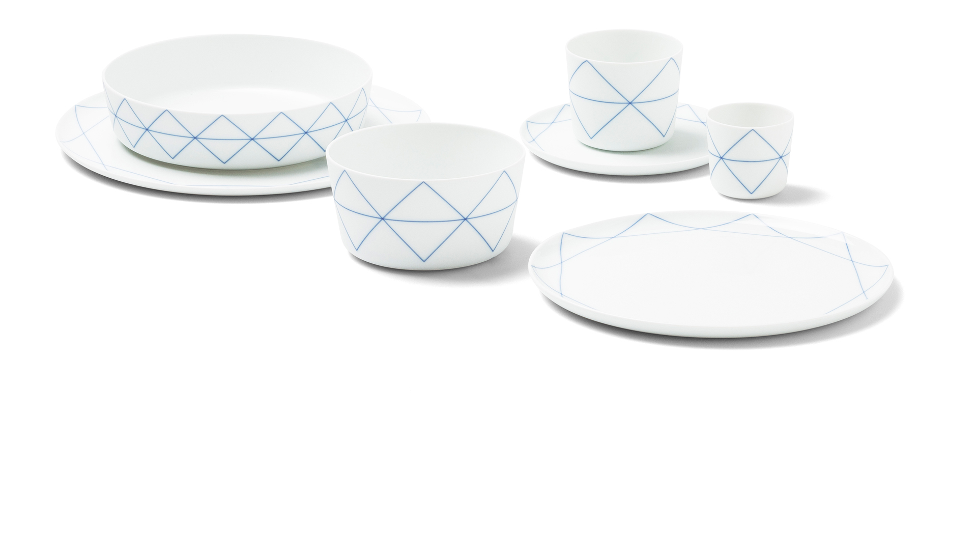 Seven Geometric Blue