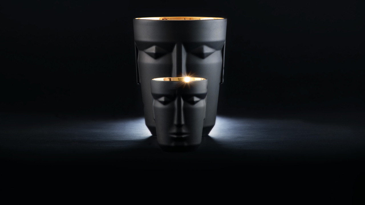 Prometheus gin tumbler and ice bucket in black