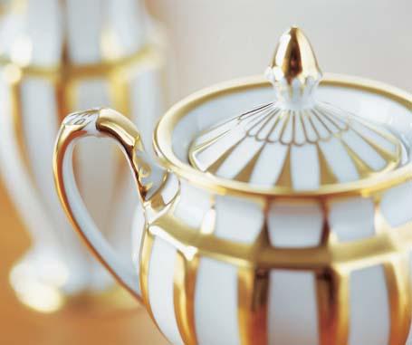 Zuckerdose der Fürstenberg Form Grecque mit dem hochwertigen Golddekor Athena